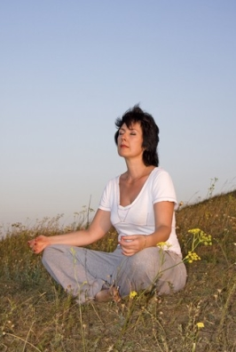 http://www.dreamstime.com/royalty-free-stock-photos-woman-concerns-yoga-sundown-day-2-image15665478