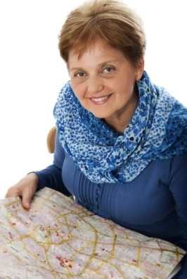 http://www.dreamstime.com/stock-image-senior-woman-map-image28114281